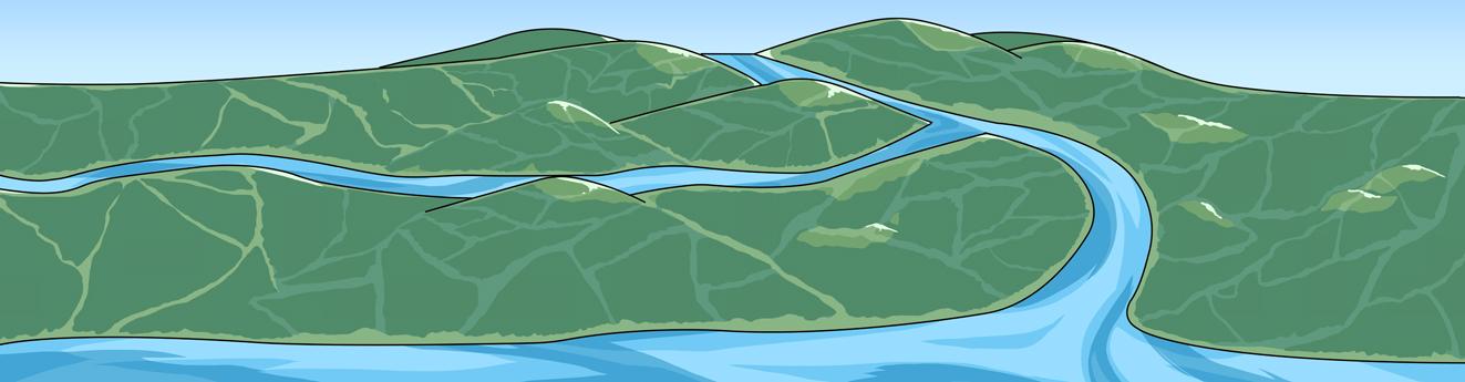 高梁川全体のイラスト